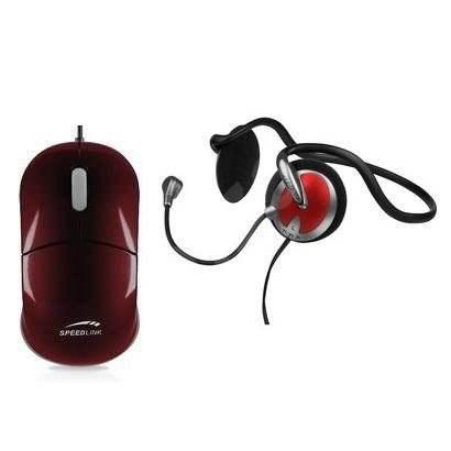 SPEED LINK Snappy2 Fialová + SPEED LINK PICUS Backheadset Stereo - Myš
