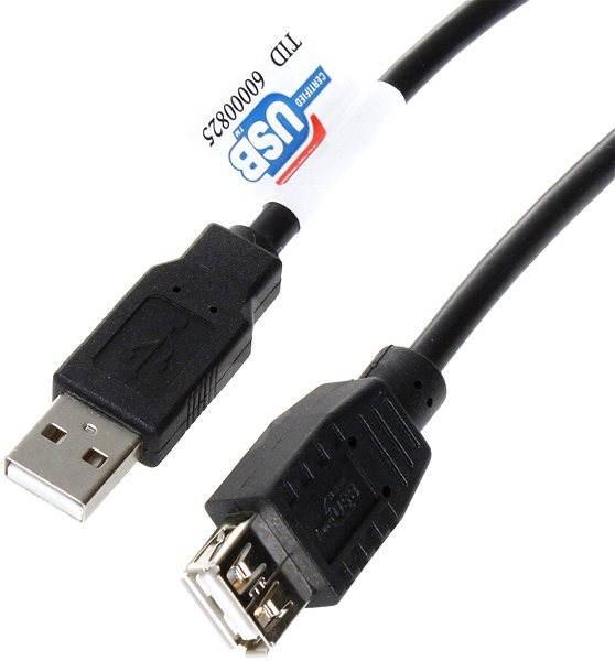 OEM USB 2.0 predlžovací 1.8 m A-A - Dátový kábel