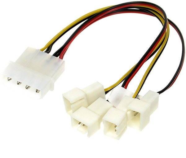 AKASA 4-pin PSU molex - Napájacia redukcia