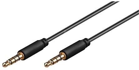 PremiumCord 4-pólový jack M 3.5  -> jack M 3,5, 1 m - Audio kábel