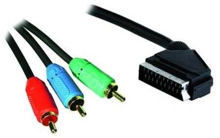 OEM SCART - 3x Cinch RGB prepojovací 3 m - Video kábel