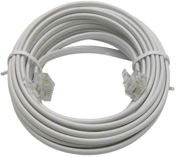 OEM telefónny s konektormi RJ 11, 6m - Telefónny kábel