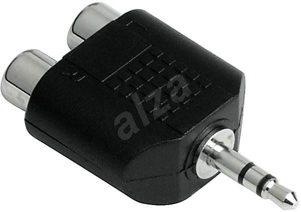 Hama audio 3.5 mm jack - 2 cinch zásuvky - Redukcia