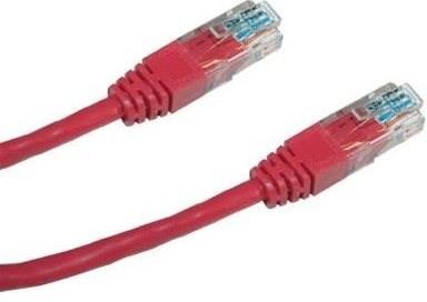 Datacom, CAT5E, UTP, 0.5m, červený - Sieťový kábel