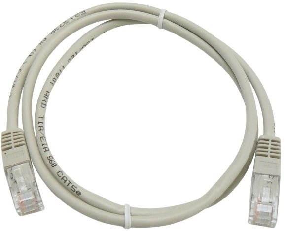 Datacom, CAT5E, UTP sivý 1 m - Sieťový kábel