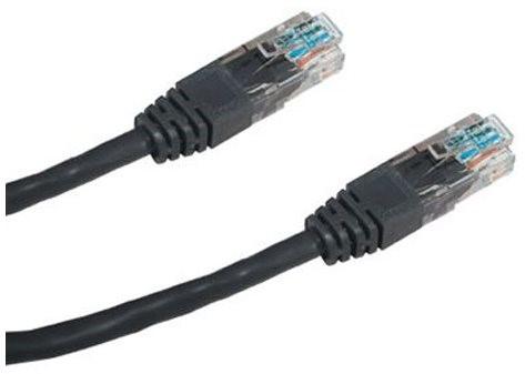 Datacom CAT5E UTP čierny 2 m - Sieťový kábel