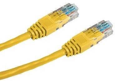 Datacom CAT5E UTP žltý 0,25 m - Sieťový kábel