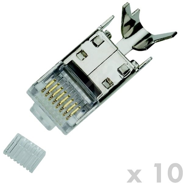 Datacom Plug STP CAT7(6A) 8p8c- RJ45 drôt (10 ks) - Konektor