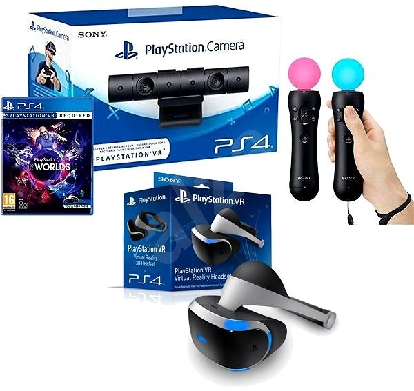 7687e349b PlayStation VR pre PS4 + hra VR Worlds + PS4 kamera + PS MOVE Twin Pack