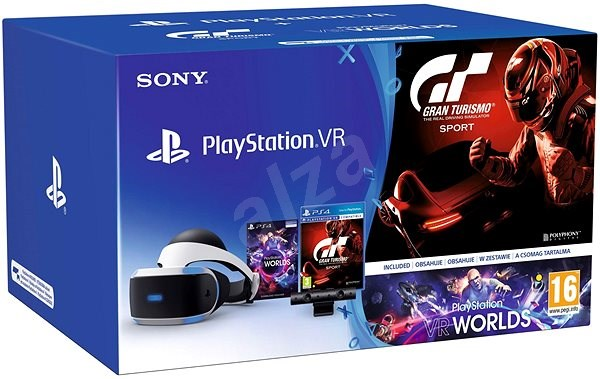 00ea88a0fb60 PlayStation VR pre PS4 + VR Worlds + GT Sport + PS4 Kamera - Okuliare na