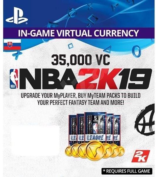 35,000 VC NBA 2K19 - PS4 SK Digital - Herný doplnok