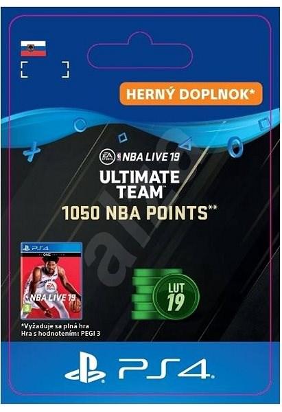 1 050 NBA POINTS – PS4 SK Digital - Herný doplnok