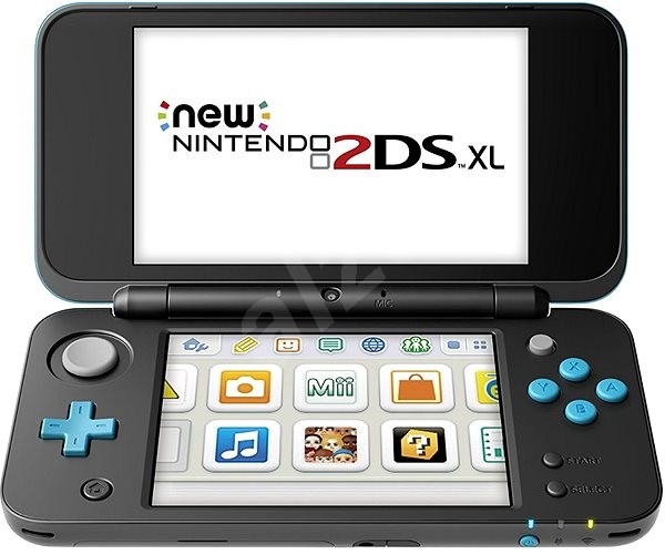 5daf20564 New Nintendo 2DS XL Black & Turquoise - Herná konzola   Alza.sk