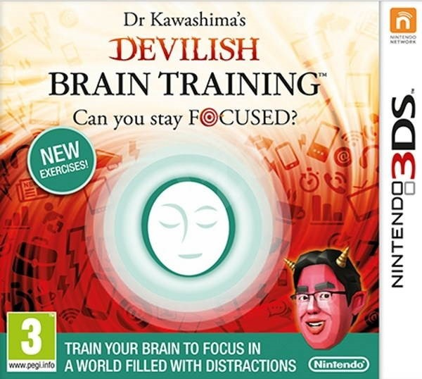 Nintendo 3DS - Dr. Kawashima's Brain Training - Hra na konzolu