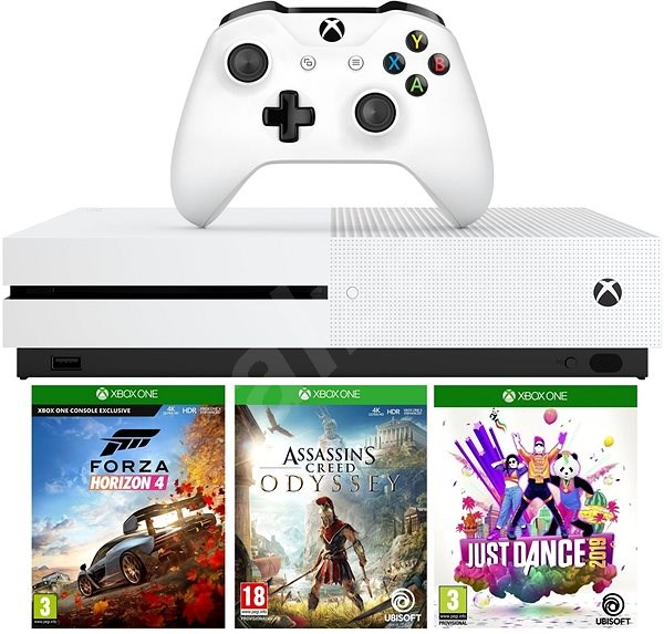 e6da9708f Xbox One S 1 TB + Forza Horizon 4 + Assassins Creed Odyssey + Just Dance