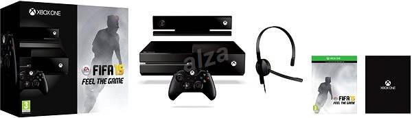486413384 Microsoft Xbox One so senzorom Kinect + FIFA 15 + Dance Central Spotlight -  Herná konzola