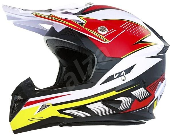 ZED X1.9D, detská (biela/čierna/červená/žltá, veľ. M) - Prilba na motorku