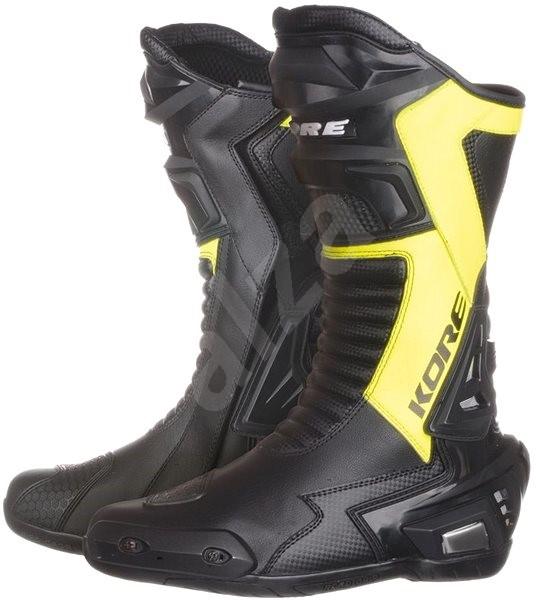 78145f7dbed1 KORE Sport čierne biele červené - Topánky na motorku