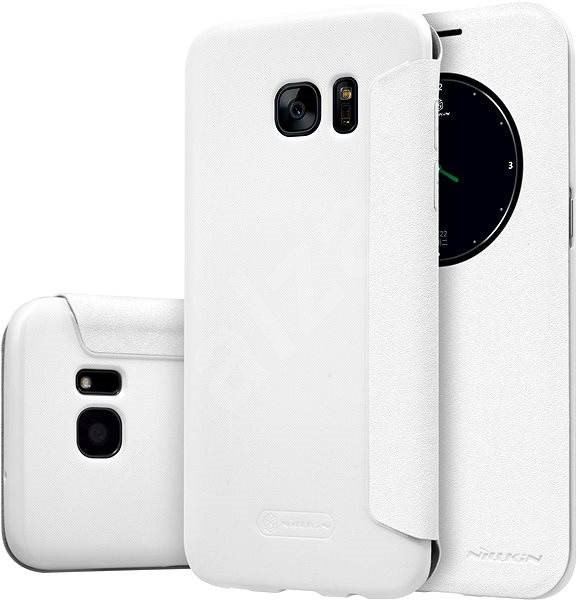 Nellkin Sparkle S-View pre Samsung G935 Galaxy S7 biela - Puzdro na mobil 3d44c4ed844