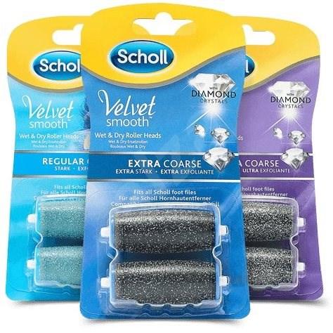 SCHOLL Velvet Smooth Rotačné hlavice, balenie 2 + 1 - Náhradná hlavica