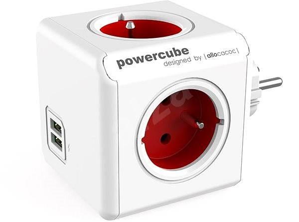PowerCube Original USB červená - Zásuvka