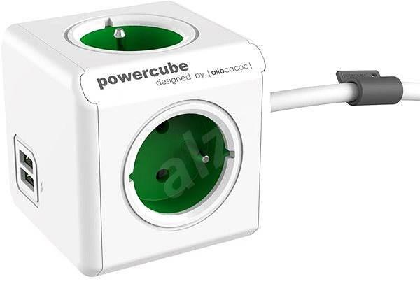 PowerCube Extended USB zelená - Zásuvka