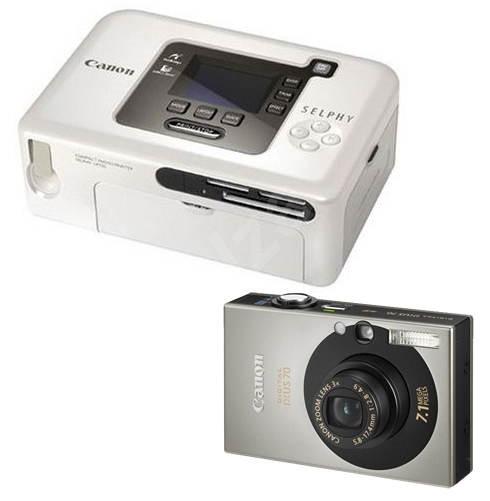 Digitální fotoaparát Canon Digital IXUS 70 + tiskárna SELPHY CP-720 - Digitálny fotoaparát