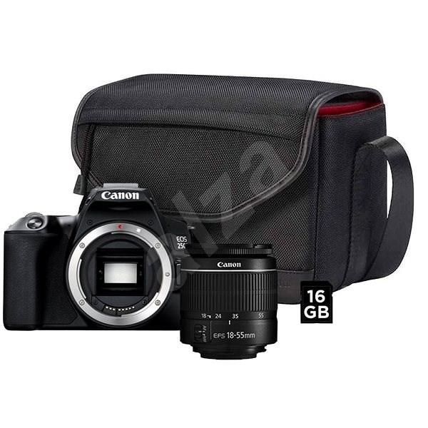 Canon EOS 250D čierny + 18–55 mm EF-S + fototaška SB130 + 16GB pamäťová karta - Digitálny fotoaparát