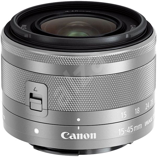 Canon EF-M 15–45 mm f/3,5 – 6,3 IS STM Silver - Objektív