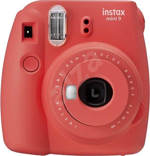Fujifilm Instax Mini 9 červený + 20× fotopapier + puzdro + rámček - Instantný fotoaparát