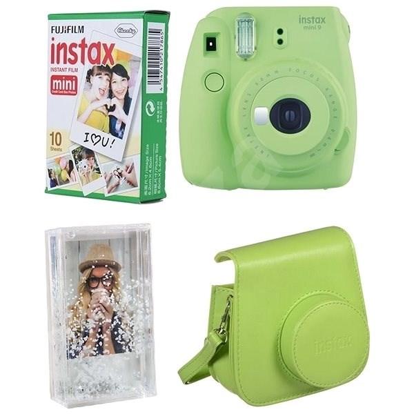 98e5042b63612 Fujifilm Instax Mini 9 limetkový + 10× fotopapier + puzdro - Instantný  fotoaparát