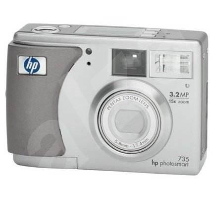 HP PhotoSmart 735, 3.34 mil. bodů, optický / digitální zoom 3x / 5x - Digitální fotoaparát