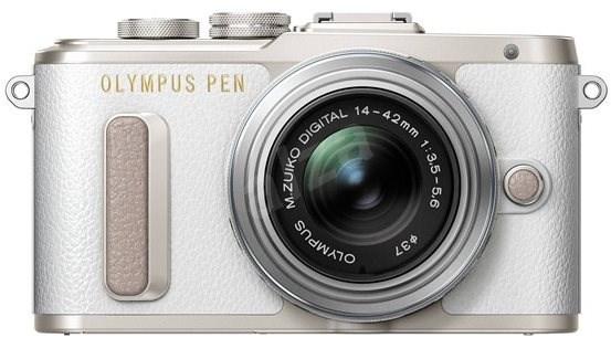 Olympus PEN E-PL8 bílý + objektiv ED 14-42 II R stříbrný - Digitálny fotoaparát