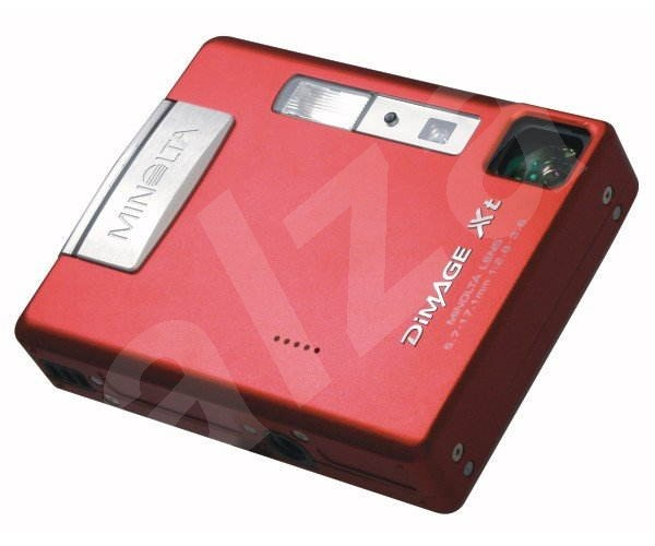 Konica Minolta DiMAGE Xt, 3.2mil., 3x opt. / 4x digit. zoom - červený - Digitální fotoaparát