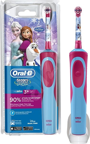 a0b9033f4 Oral B Vitality Kids D12K Frozen - Elektrická zubná kefka pre deti ...
