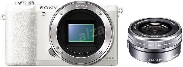 Sony Alpha A5100 biely + objektív 16–50 mm - Digitálny fotoaparát