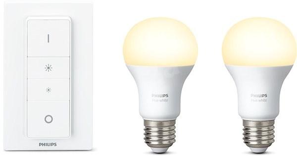 Philips Hue White set 2ks + Hue dimmer switch - Súprava inteligentného osvetlenia
