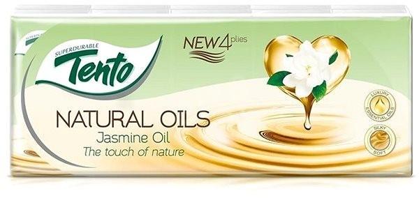 TENTO Natural Oils Jasmine 10× 10 ks - Papierové vreckovky