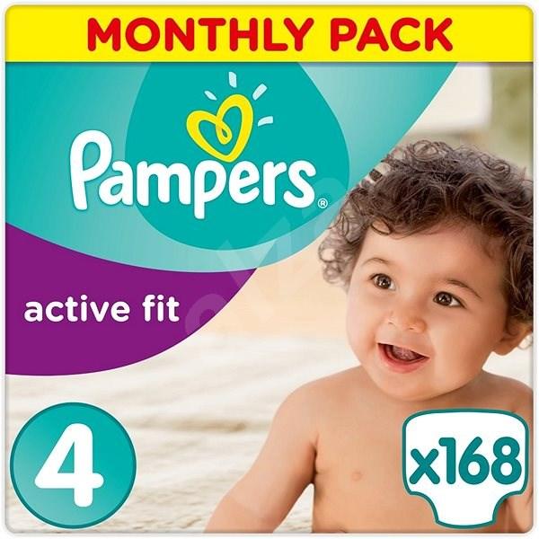 PAMPERS Active Fit vel. 4 (168 ks) - měsíční balení - Detské plienky