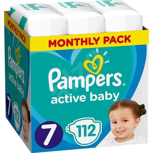 PAMPERS Active Baby veľ. 7 (112 ks) – mesačné balenie - Detské plienky