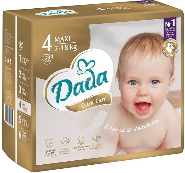 DADA Extra Care MAXI, veľ. 4, 33 ks - Detské plienky