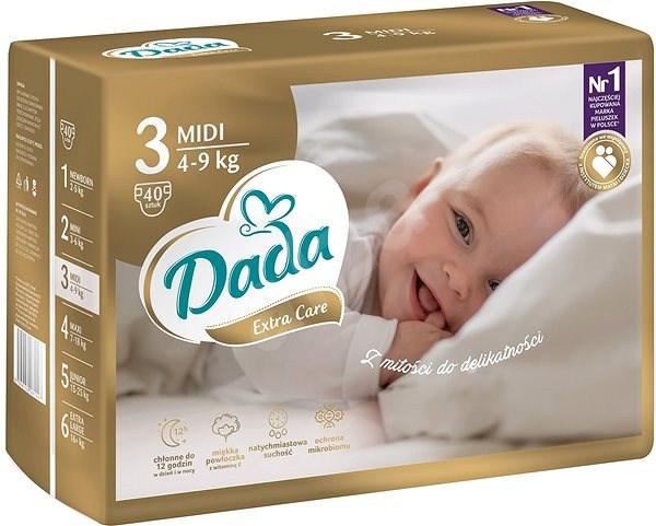 DADA Extra Care MIDI, veľ. 3, 40 ks - Detské plienky