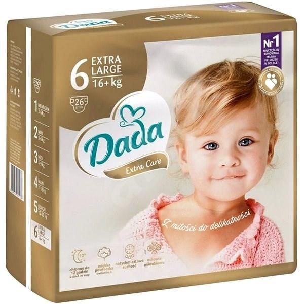 DADA Extra Care XL, veľ. 6, 26 ks - Detské plienky