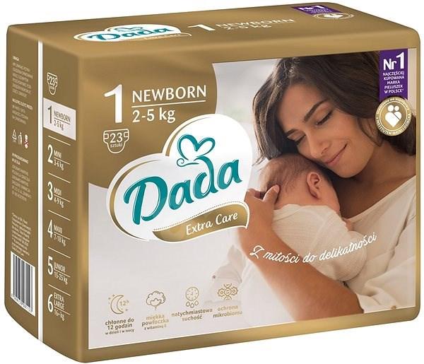 DADA Extra Care Newborn, veľ. 1, 23 ks - Detské plienky