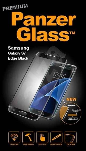 PanzerGlass Premium pre Samsung Galaxy S7 edge čierne - Ochranné sklo