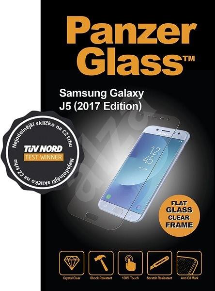 PanzerGlass Edge-to-Edge pre Samsung Galaxy J5 2017 čierne - Ochranné sklo