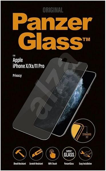 PanzerGlass Standard Privacy pre Apple iPhone X/XS/11 Pro číre - Ochranné sklo