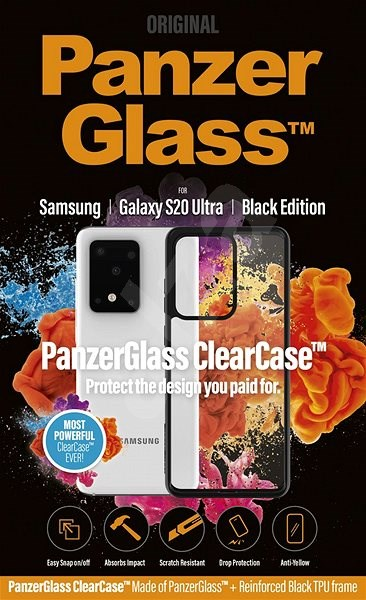 PanzerGlass ClearCase pre Samsung Galaxy S20 Ultra Black edition - Kryt na mobil