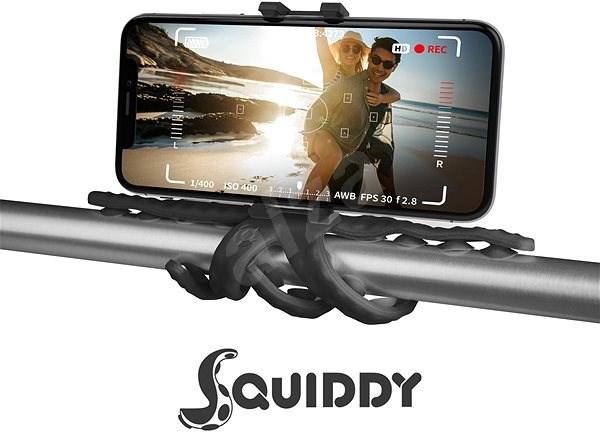 """CELLY Squiddy na telefóny do 6,2"""" čierny - Držiak na mobil"""
