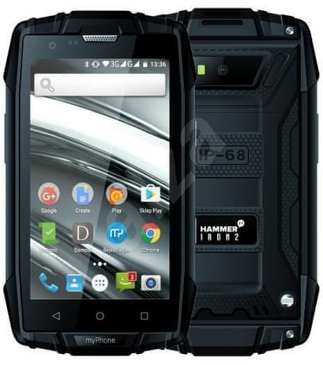 MyPhone Hammer Iron 2 čierna - Mobilný telefón